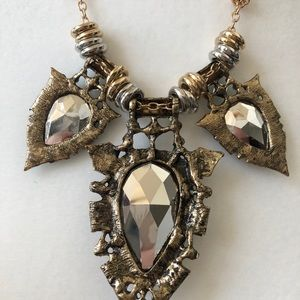Gold reversible chunky vintage gypsy necklace